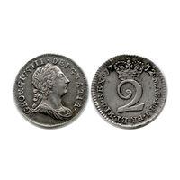 Великобритания. 2 пенни 1772 г.