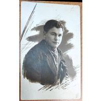 Фото студента или преподавателя Белорусской сельскохозяйственной академии. Горки. 1928 г. 8х13 см.