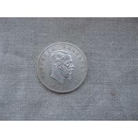 ИТАЛИЯ: 5 лир серебро  1874 год от 1 рубля без МЦ