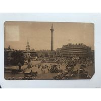 Открытка 1926 год London Trafalgar square