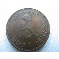 Гибралтар 1 пенни 2004 г. 300 лет захвату Гибралтара. (юбилейная)