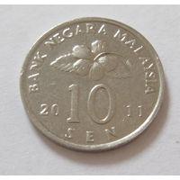 Малайзия 10 центов 2011