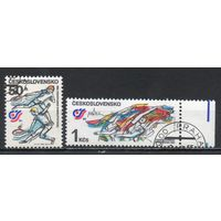 Национальная спартакиада Чехословакия 1985 год серия из 2-х марок
