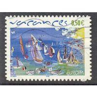 Франция Европа-Септ 2004 год парус море