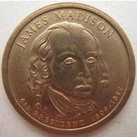 США 1 доллар 2007 г. (P) 4-й Президент США Джеймс Мэдисон (j)