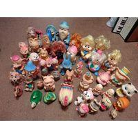 С 1 рубля. Большая коллекция резиновых игрушек из СССР 46 штук 1 лотом