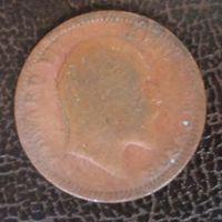 Индия 1/4 рупии. 1904