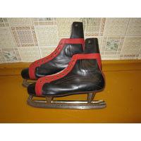 Коньки хоккейные кожаные LICO винтажные