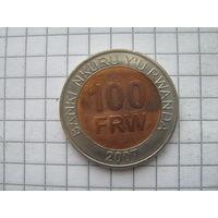 Руанда 100 франков 2007г.