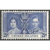 Кайманы. Король Георг VI и королева Елизавета. 1937г. Mi#100.