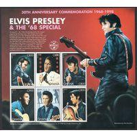 Элвис Пресли Гана 1998  год серия из 6 марок в малом листе (М)