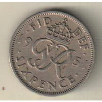 Великобритания 6 пенс 1951