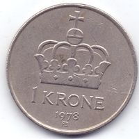 Норвегия, 1 крона 1978, 1981, 1985 гг.