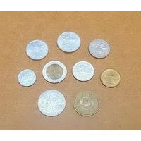 Подборка азиатских и африканских монет 1990-2007 гг. Индонезия, Тайланд, Тунис