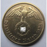 Германия. 10 рейхспфеннигов 1938 G. 358