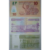 Нигерия 10, Бурунди 100, Мадагаскар 200