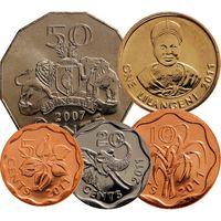 Свазиленд набор 5 монет 2007-2011 UNC
