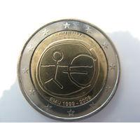 Словения 2 евро 2009 г. 10 лет монетарной политики ЕС (EMU) и введения евро. (юбилейная) UNC!