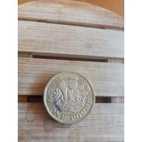 Монета Англия 1Фунт 2016 Биметалл
