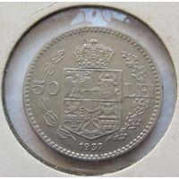 Румыния 50 леев 1937 - нечастая, состояние!
