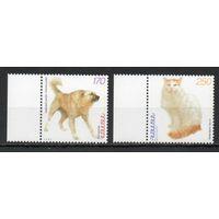Кошки и собаки Армения 1999 год серия из 2-х марок