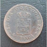Португальская Индия 1/4 танга 1903 года. Редкая
