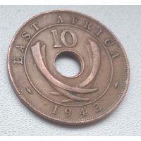 Британская Восточная Африка 10 центов, 1943  6-6-14