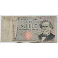 Италия 1000 Лир 1969 , F, 701