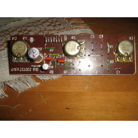 Панель с регулировочными потенциометрами и радиодеталями