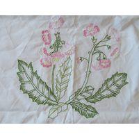 Мешок желаний Вышивка Розовые Цветы 65см х 46см хлопок