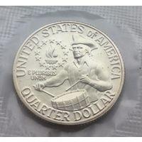 25 центов 1976 год в запайке серебро