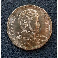 50 песо Чили 2008 года.Штемпельный блеск.