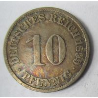 Германия. 10 пфеннигов 1899 F.  2-113