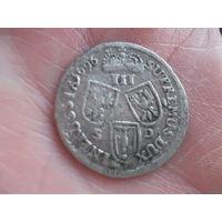 3 гроша 1696 год пруси