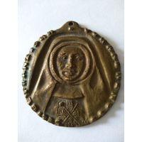 Медаль историческая бронзовая католического ордена. Нач. 20 в. 6 см
