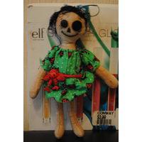 """Тряпичная кукла, ручной работы в ед.экз: """"Halloween/Хэллоуин""""., - *выполненная из натуральных материалов с стиле трэш;)!"""