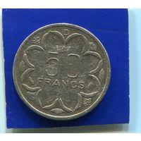 Центральная Африка 50 франков 1984 D