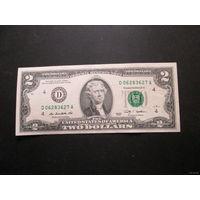 2 доллара США 2009 г., D 06283627 A, XF