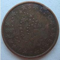 Словения 5 евроцентов 2007 г.