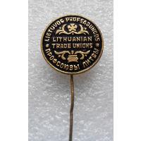 Значок. Профсоюзы Литвы #0128