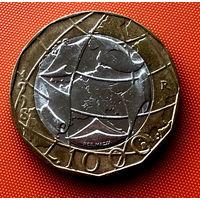 107-14 Италия, 1000 лир 1998 г.