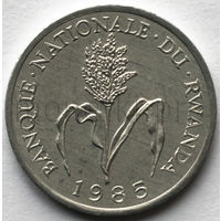 Руанда 1 франк 1985 года. Просо обыкновенное