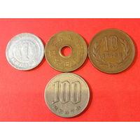 Япония, 4 монеты