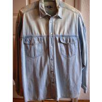 Рубашка джинсовая  б/у большой размер XL