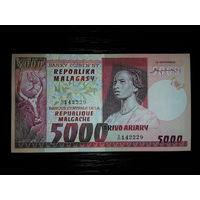 Мадагаскар. 5000 франков 1974г, UNC