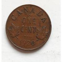Канада 1 цент, 1920 19мм, 3.24г 4-1-33