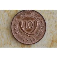 Уганда 10 центов 1966(первый год)