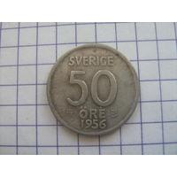 Швеция 50 оре 1956г. биллон km825