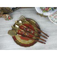 Аксессуары для кухни Набор кухонных принадлежностей в старинном стиле поварешки латунь
