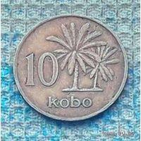 Нигерия 10 кобо 1973 года. Пальма.